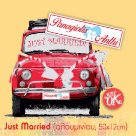 Πινακίδες Just Married