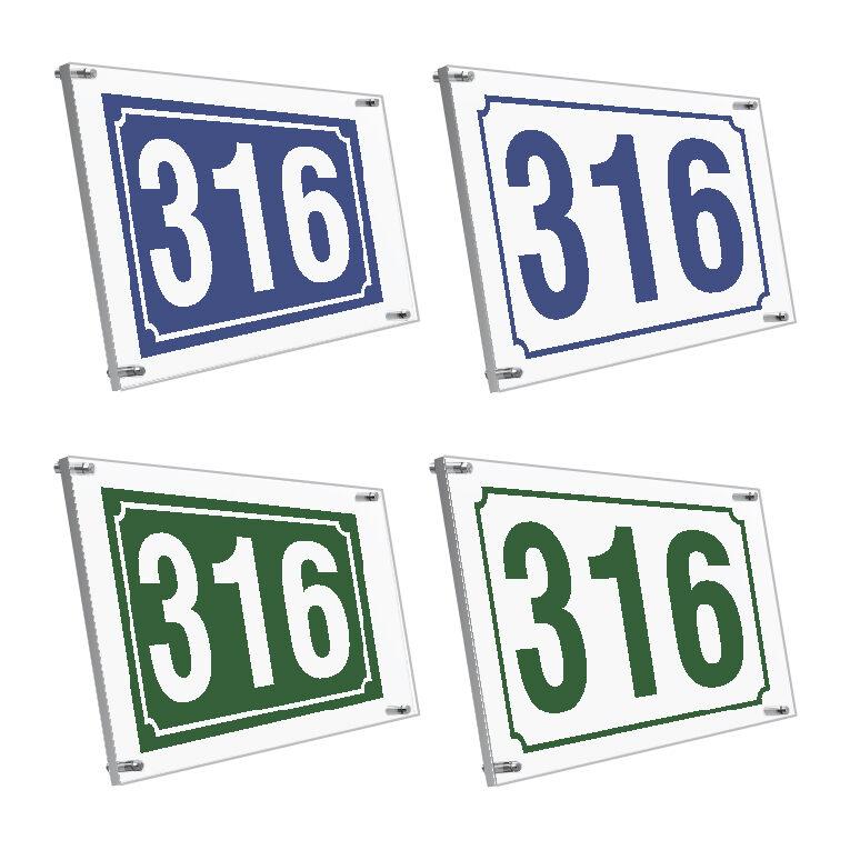 Πινακίδες αριθμών plexiglass