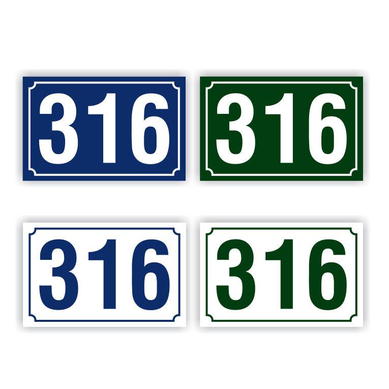 Πινακίδες αριθμών αλουμινίου